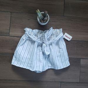 Love Tree Striped Bow Tie Cloth Shorts S